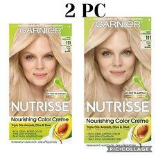 Lot 2 Garnier Nutrisse Hair Color Creme, 111 Extra-Light Ash Blonde....