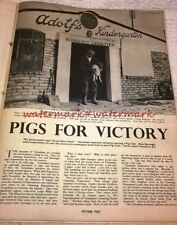 TOTTENHAM PIG FACTORY - 3-Page Photo Feature from 1940 WW2 PICTURE POST Magazine