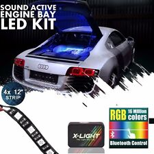 X-LIGHT LED Engine Bay Light Strip Kit Music Active 18 Multi-Color Blue tooth