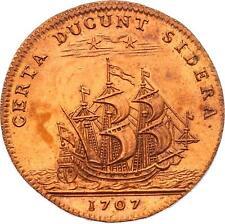 O3552 Jeton Louis XIV Bourgogne soutenue par les princes de Condé 1707 SPL