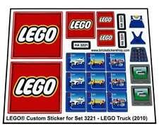 Precut Replica Sticker for Lego Set 3221 - LEGO Truck (2010)