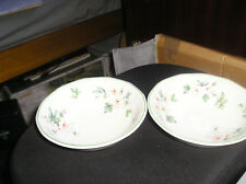 Real English ironstone ADAMS Azelea pattern 2 cereal/soup/dessert bowls