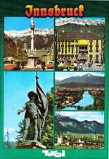 Austria Postcard Innsbruck Tirol 5 Photos of Tourist Sites of Interest 1970s