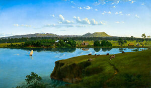 Eugene Von Guerard, Purrumbete from Across the Lake, Museum Poster, Canvas Print