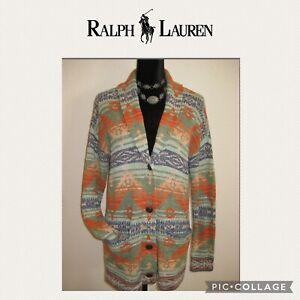 Ralph Lauren Denim & Supply Cardigan Sweater Aztec Southwestern Indian  Size S