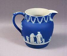 Wedgwood 1904 Royal Blue RARE Greek mythology Jasperware Pitcher Jug