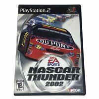 NASCAR Thunder 2002 (Sony PlayStation 2, 2001) Complete w/Manual CIB