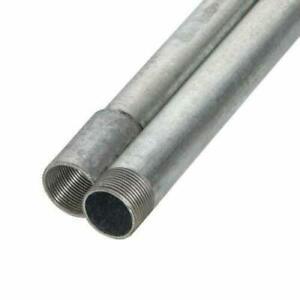 20mm or 25mm Galvanised Steel Metal Conduit Tube 3m Lengths Pack of 2