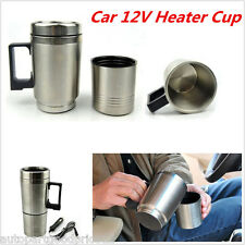12V 300ml In-Car Thermos Stainless Steel Thermal Coffee Maker TeaPot Heating Cup