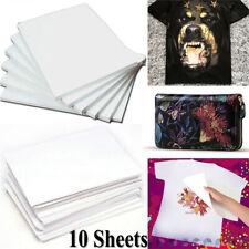 10 Pcs A4 Heat Transfer Paper DIY T-Shirt Painting Paper for Light Fabric Cloth
