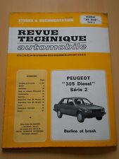 RTA revue technique PEUGEOT 305 diesel série 2 berline et break