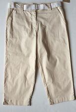 WHITE STAG Womens Capris Size 10 BEIGE Loose Style Cotton Spandex COMFORT NEW