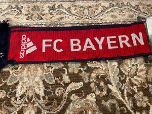 FC Bayern Munich Adidas Soccer Scarf Germany Bundesliga Football FIFA Authentic