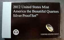2012-S SILVER PROOF FIVE QUARTER SET WITH BOX AND C.O.A LOW MINTAGE SCRATCH FREE
