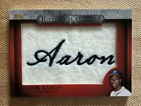 2012 Topps Historical Stitches #HS-HA Hank Aaron HOF NM-MT