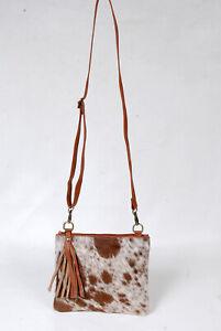 Real Cowhide Cross body Purse Handbag & Hand Clutch  Cow Hide Leather  SA-6288
