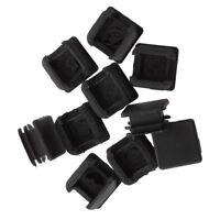 20x(25mm x 25mm Plastic Square Tube Inserts End Blanking Caps Black I5B8