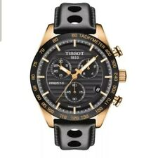 Tissot PRS 516 Chronograph Mens Gold Tone Swiss Watch T100.417.36.051.00