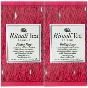 ORIGINS Rituali Tea Feeling Rosy powder face mask for drier skins ~ 10 samples