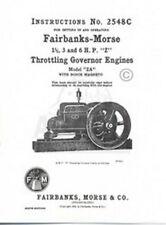 Fairbanks Morse Za 1 12 3 6 Hp Hit Miss Engine Manual