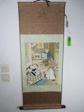 Roll imagen amor erótico sexo china 1980 aprox. mano pintado firmado hanging scroll 1 M
