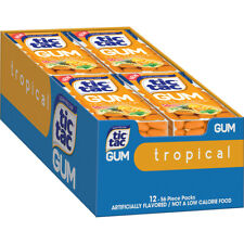Tic Tac Gum Cool Tropical Sugar-Free Candy Bulk Candies Tacs Box of 12 Packs NEW