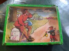 Vintage metal   skill ball game cartoon characters c1950