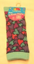 Girls Socks Shoe Size 6-10.5 Small Fruit of the Loom Knee Highs