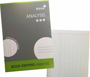 ANALYSIS Book Accounting Silvine Treble Keeping Ledger UK