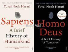 Sapiens & Homo Deus 2 Book Set by Yuval Noah Harari (Free Homo De card)