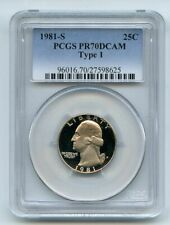 1981 S 25C Washington Quarter Proof PCGS PR70DCAM