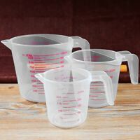AU_ HN- 250/500/1000ml Double Scale Transparent Measuring Cup Kitchen Weighing T