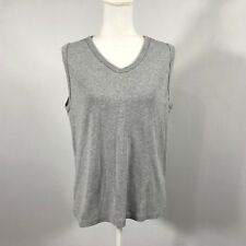 Russell Athletic Women Sleeveless Size XL Athletic Tank Top Gray Knit Top - D29