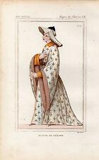 COSTUME DE LA FRANCE XVe siècle / Jeanne de Chalons
