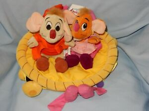"""Disney Cinderella Mice With Basket Plush 14"""" with tags"""