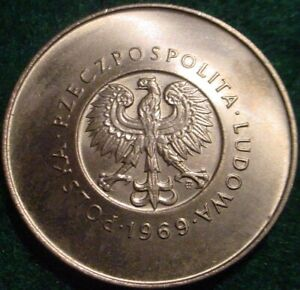 HI GRADE BU 1969 10 ZLOTYCH POLAND**25TH ANNIVERSARY OF INDEPENDANCE*1944-1969