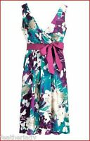 Kaleidoscope RETRO print MAGENTA PINK jade green prom dress 10 12 14 16 18