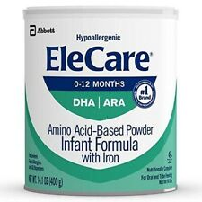 EleCare Infant Formula Hypoallergenic Powder 1 case 6 Cans Free Shipping!