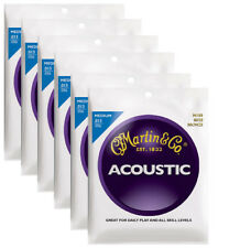 Martin M150 medium bronze wound acoustic guitar string set ( 6 set deal )