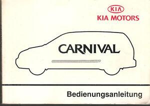 deutsche Betriebsanleitung CARNIVAL KIA MOTORS   Handbuch Ausgabe 2001