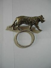 Tiger codea09 Brooch drop hoop Holder For Glasses , Pen , ID jewellery