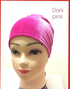 Women Ladies Under scarf  Hijab Tie Back Bonnet Cap  Head band Tie Back Hat
