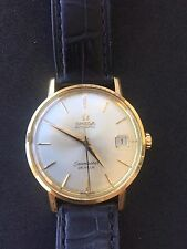 OMEGA SEAMASTER DEVILLE DATE 18k SOLID YELLOW GOLD  WATCH *MINT CONDITION*