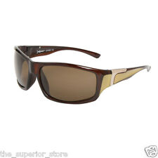Polarized Sport Sunglasses XS602 Brown Frame w/Gold - Brown Lens - New