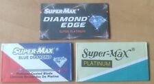 SuperMax Trio Double Edge Safety Razor Blades (9) Diamond Edge Blue Diamond Plat