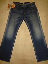 PRPS BARRACUDA Distressed Straight Blue Jeans 5 Buttons Mens 38 x 34 Orig. $250+