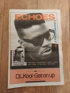 ECHOES MAGAZINE 23 SEPTEMBER 1989 SCHOOLLY D ICE CUBE THIRD WORLD FRANKIE BONES