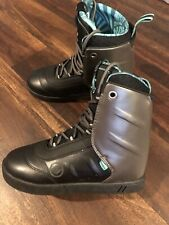 Hyperlite Aj Jimmy LaRiche System Wakeboard Boots Mens Size 9 Black Teal