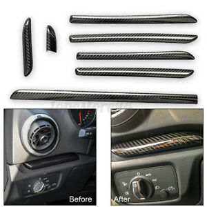 For Audi A3 S3 RS3 8V Carbon Fiber Interior Console Door Panel Strips Cover