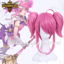 League of Legends Star Guardian LUX LOL Pink Double Ponytails Cosplay Wig